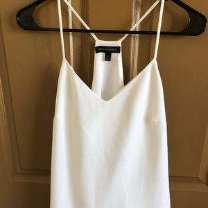 White Banana Republic double lined tank